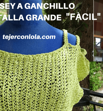 """JERSEY A GANCHILLO TALLA GRANDE """"FÁCIL"""""""