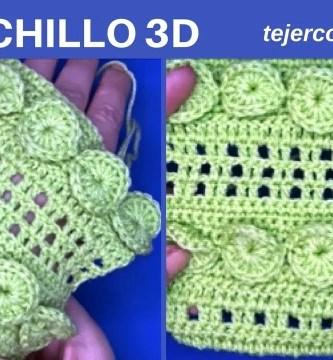 PUNTO A GANCHILLO EN 3D