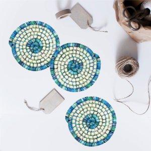 Posavasos hechos a mano en colores