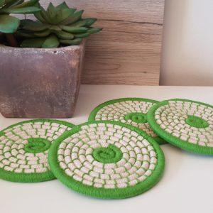 Set de 4 posavasos verdes