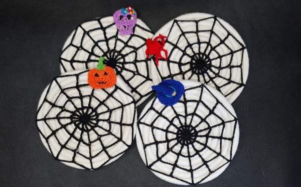 Set de 4 posavasos de Halloween