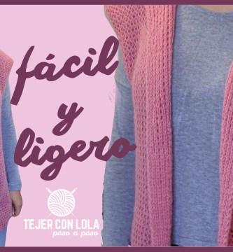 CHALECO LARGO Y LIGERO