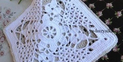 Agarradera crochet elegante
