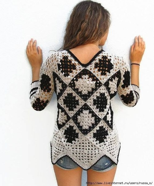 Blusa Crochet granny simple1