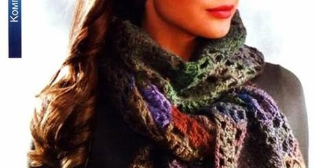 Bufanda tejida al crochet en semicírculo