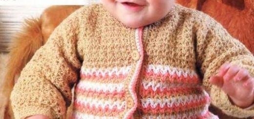 Chaleco y gorro crochet para bebé
