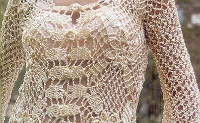 Esquema Chaleco crochet abierto con botones