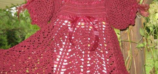 Esquema vestido crochet bebé