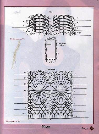 Patrón Blusa en ganchillo con punto1
