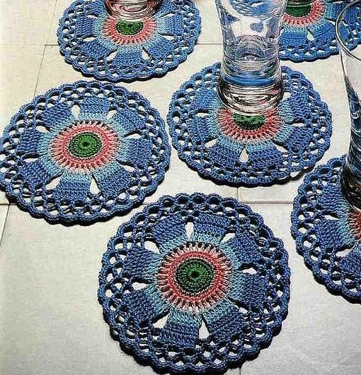 Patrón Posavasos finos en crochet2