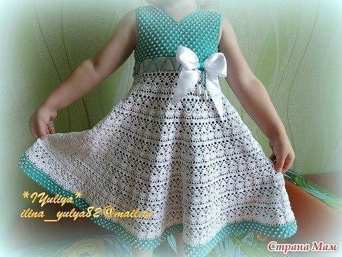 Vestidos de crochet para nina con patrones