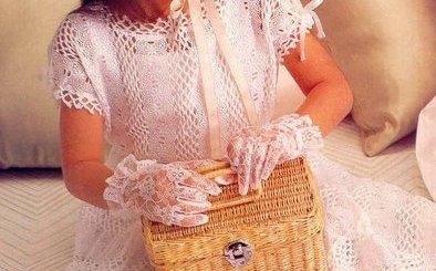 Vestido ganchillo niña de princesa