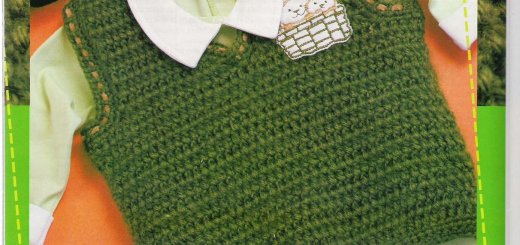 Chaleco crochet bebe sin mangas con esquemas