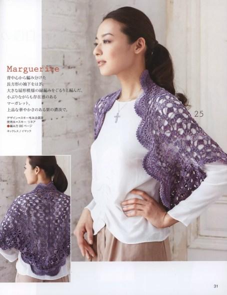 Crochet bolero con esquemas