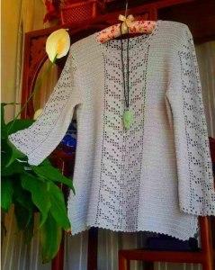 Ganchillo túnica extraordinario diseño