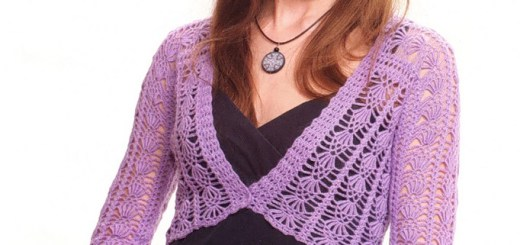 Hermoso bolero en crochet con patrones