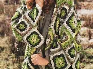 Linda chaqueta crochet con grany