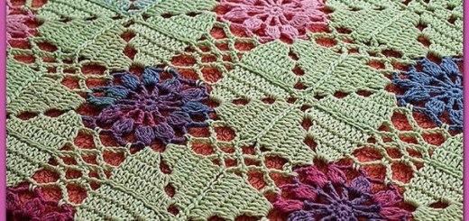 Manta crochet esquema motivo