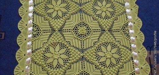 Mantita elegante crochet bebé esquema
