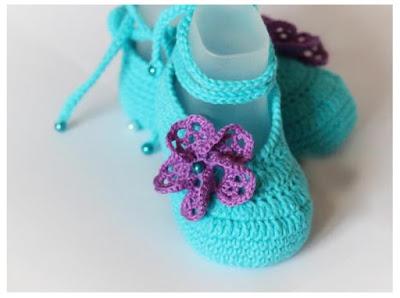 Patucos crochet bebe con esquema