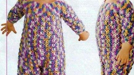 Pijamas crochet beba con patrones