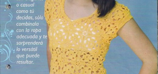 Polera en crochet juvenil patrón