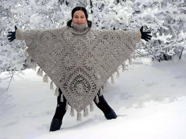 Poncho crochet esquemas
