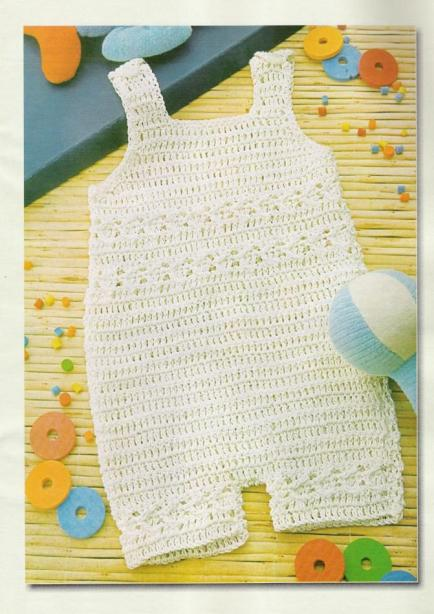 Sencillo enterito para bebe en crochet con patrón