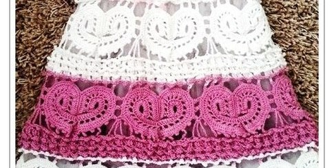 Vestido niña crochet novedoso