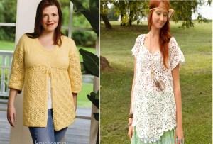 Blusa crochet talla xl