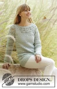Blusa de crochet femenina
