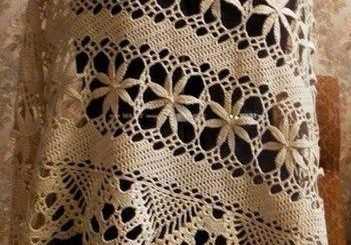 Capa a crochet maravillosa
