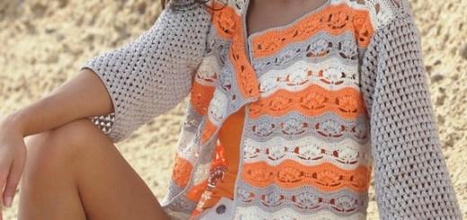 Chaleco crochet bicolor