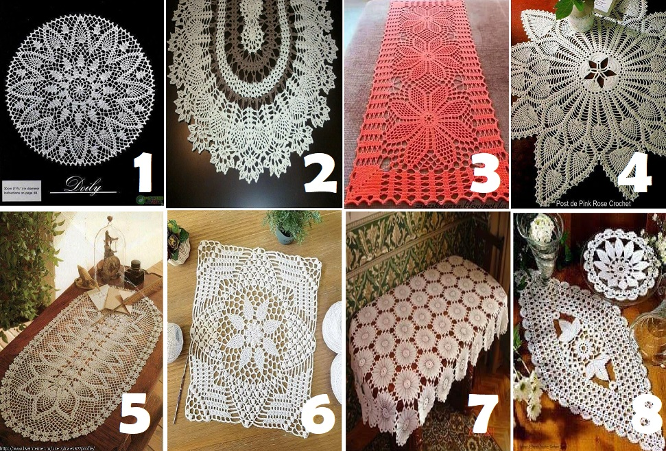 Colección de tapetes en ganchillo con patrones