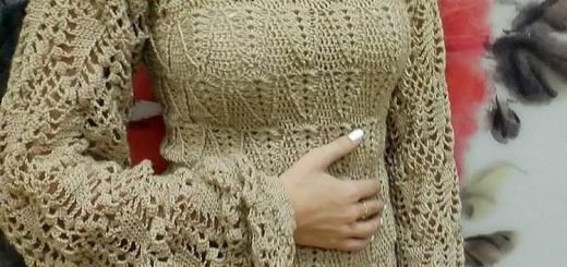 Jersey de ganchillo manga larga