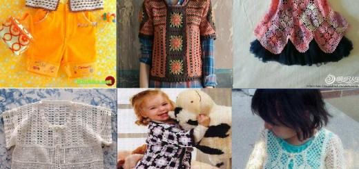 Selección de ropa de niña en crochet con patrones
