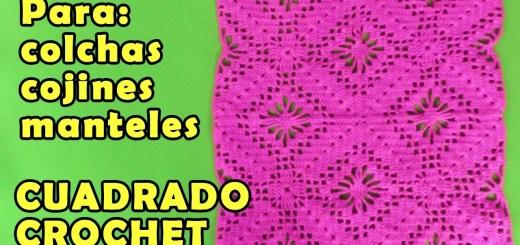 Tejidos a crochet colchas paso a paso