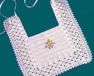 Babero crochet sencillo