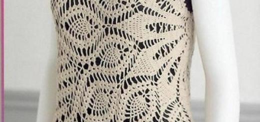 Blusa crochet con piñas