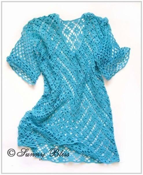 Blusa crochet verano