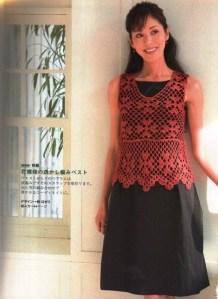 Blusas tejidas a crochet japonesas