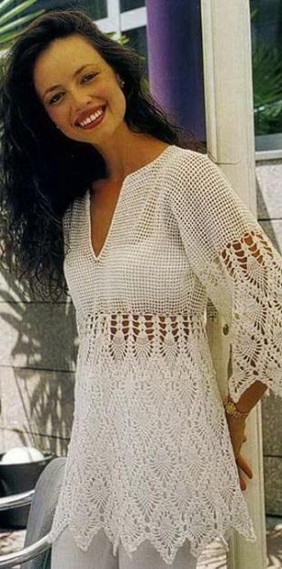 Blusas tejidas modernas