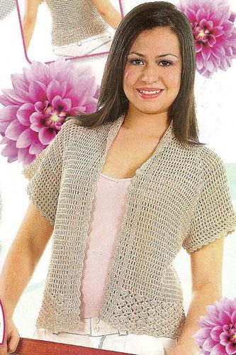 Bolero sencillo crochet