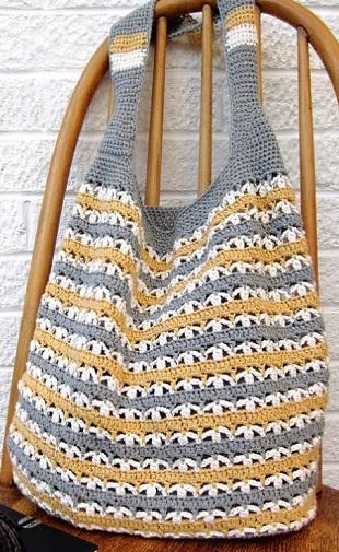Bolso playa crochet