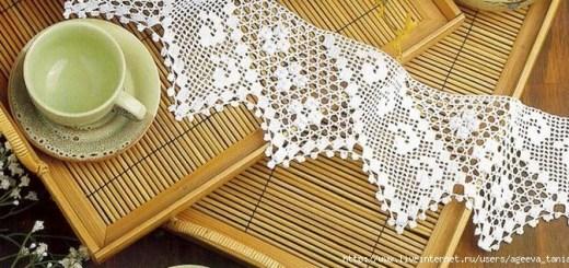 Borde elegante crochet