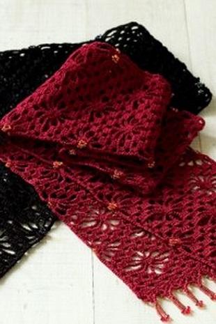 Bufandas tejidas de gancho