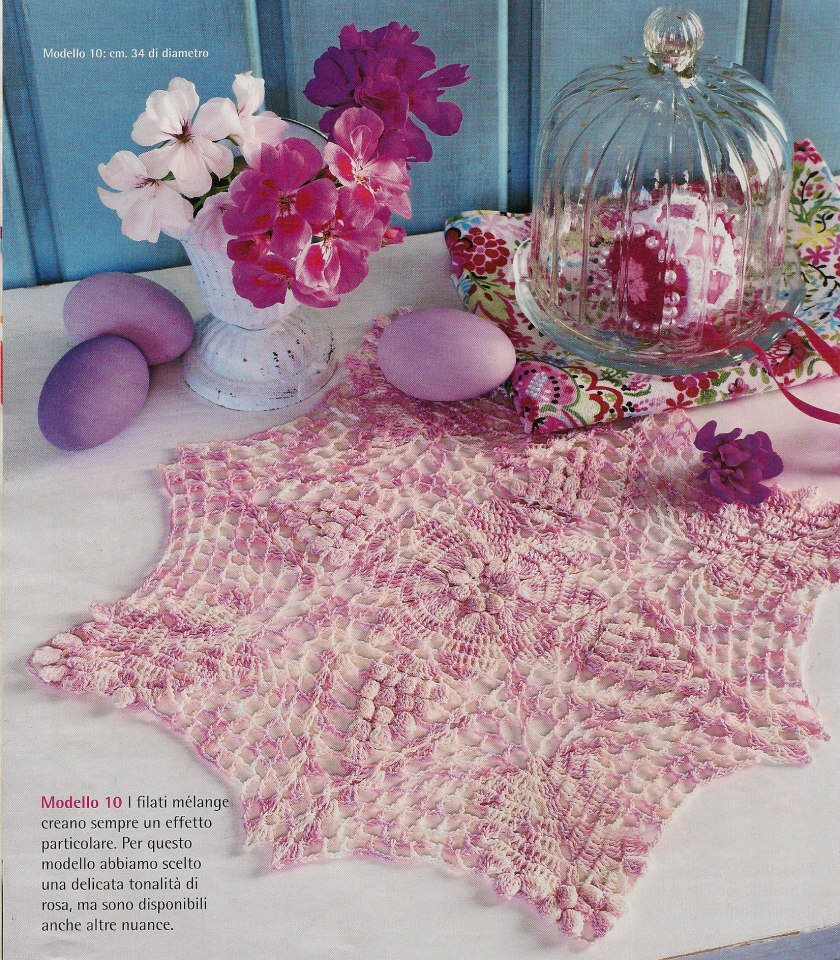Carpetas de crochet patrones gratis