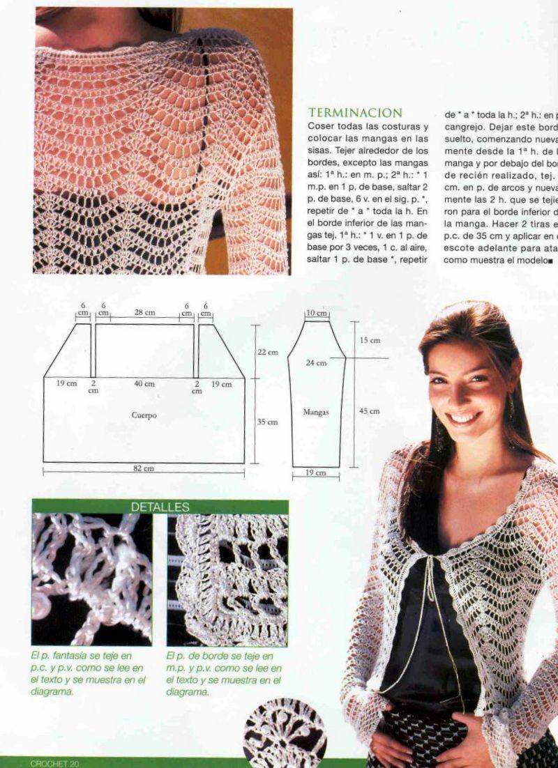 Chalecos de crochet patrones ➤ TEJER CROCHET ➤ Crochet Patrones