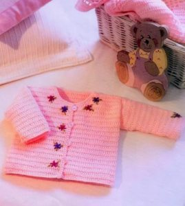 Chaleco de bebe a crochet