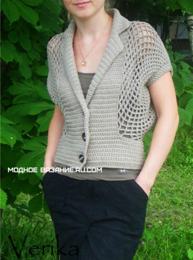 Chalecos en crochet para mujer